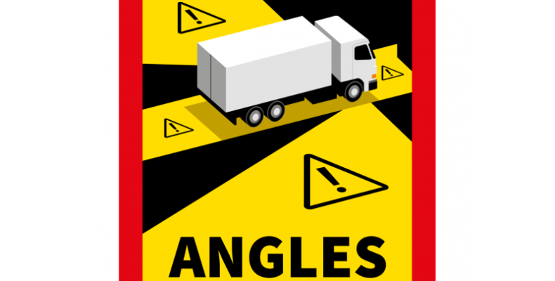 sticker angles morts camions